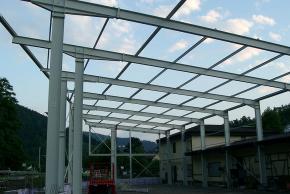 Raiffeisen Wolfach - Stahlkonstruktion